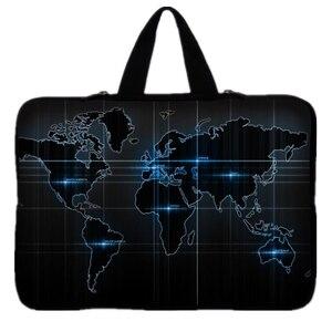 """Image 2 - Bản Đồ Thế Giới Notebook Laptop Dành Cho 9.7 Inch 10 11.6"""" 13 13.3"""" 14 """"14.4 """"15 15.6 """"17"""" 17.3 Laptop Túi Đựng Máy Tính Bảng"""