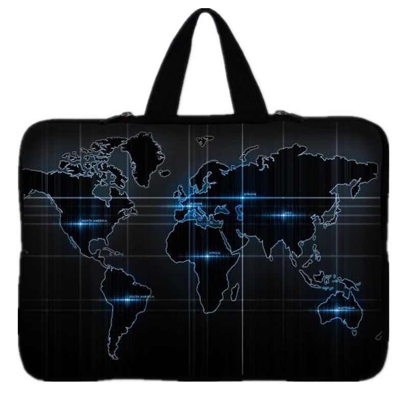 """Pochette pour ordinateur portable carte du monde pour ordinateur portable 9.7 pouces 10 ''11.6"""" 13 ''13.3"""" 14 """"14.4"""" 15 ''15.6"""" 17 """"17.3'' sacoche pour ordinateur portable"""