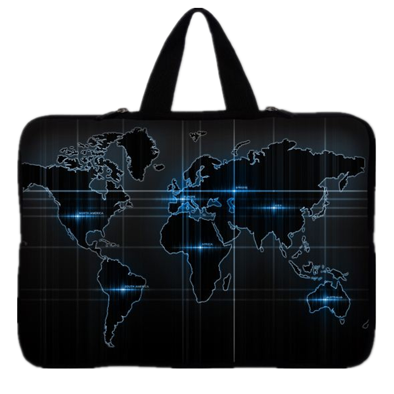 "Image 2 - world map notebook laptop Sleeve Case for 9.7 inch 10'' 11.6"" 13'' 13.3"" 14"" 14.4"" 15'' 15.6"" 17"" 17.3'' laptop tablet bag-in Laptop Bags & Cases from Computer & Office"
