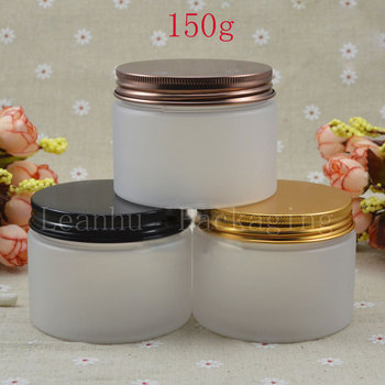 Frosted  Refillable Makeup Cream Jar ,Empty Cosmetic Containers,DIY Cosmetic Packaging Personal Care 150g Frosted Container Jar