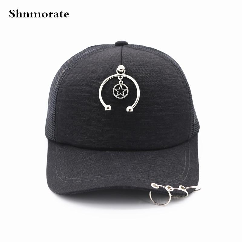 Color Negro estrella anillos ajustable Casual gorra de béisbol hombres y mujeres  Snapback Casquette Unisex deporte 6f0953fd094