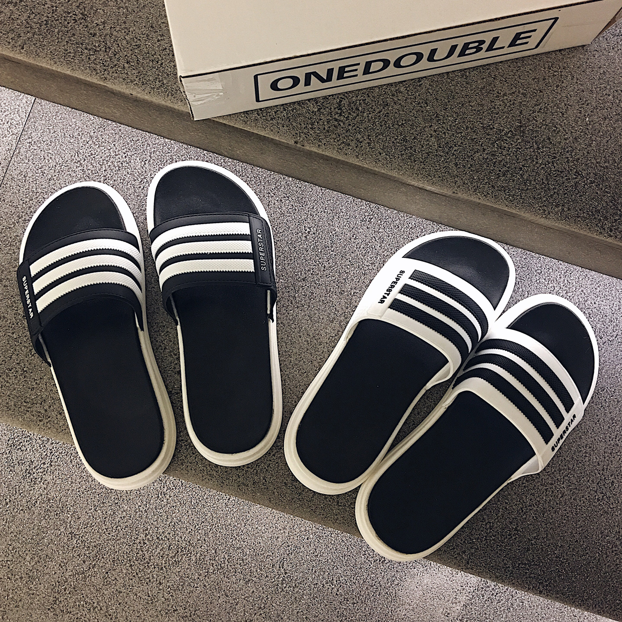 Slippers men's summer fashion wear Korean version of the tide soft bottom outdoor beach sandals anti-slip sandals and slippers(China)