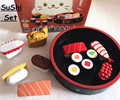 Bebê brinquedos simulação caixa de Sushi almoço brinquedos de madeira do bebê Pretend Play brinquedos de cozinha de alimentos para crianças presente de aniversário