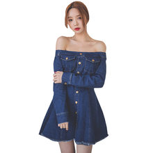 2018 Spring Autumn New font b Women b font font b Sexy b font Denim Dress
