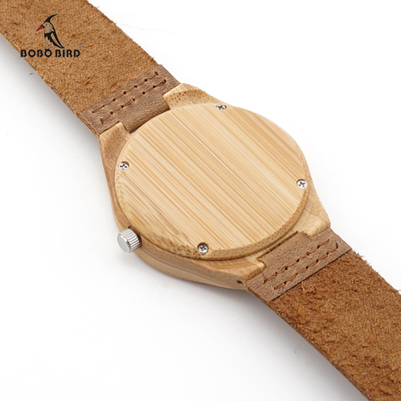 Image 4 - TOP Luxury Brand Watch BOBO BIRD Women Wristwatches Handmade Ladies Wood Watches With Genuine Leather relogio feminino C A32-in Women's Watches from Watches