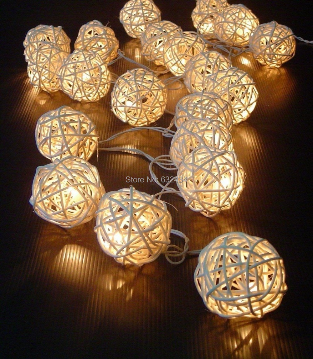 Led patio string lights - Aliexpress C S New 20 Led Rattan Ball Solar Patio String