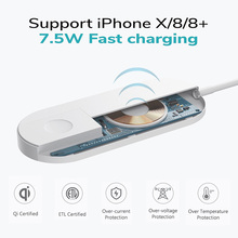 Qi Wireless Fast Charger for Apple Watch 1 2 3 iWatch For iPhone XS MAX XR 8 Plus Smart Charging Cable Pad Phone