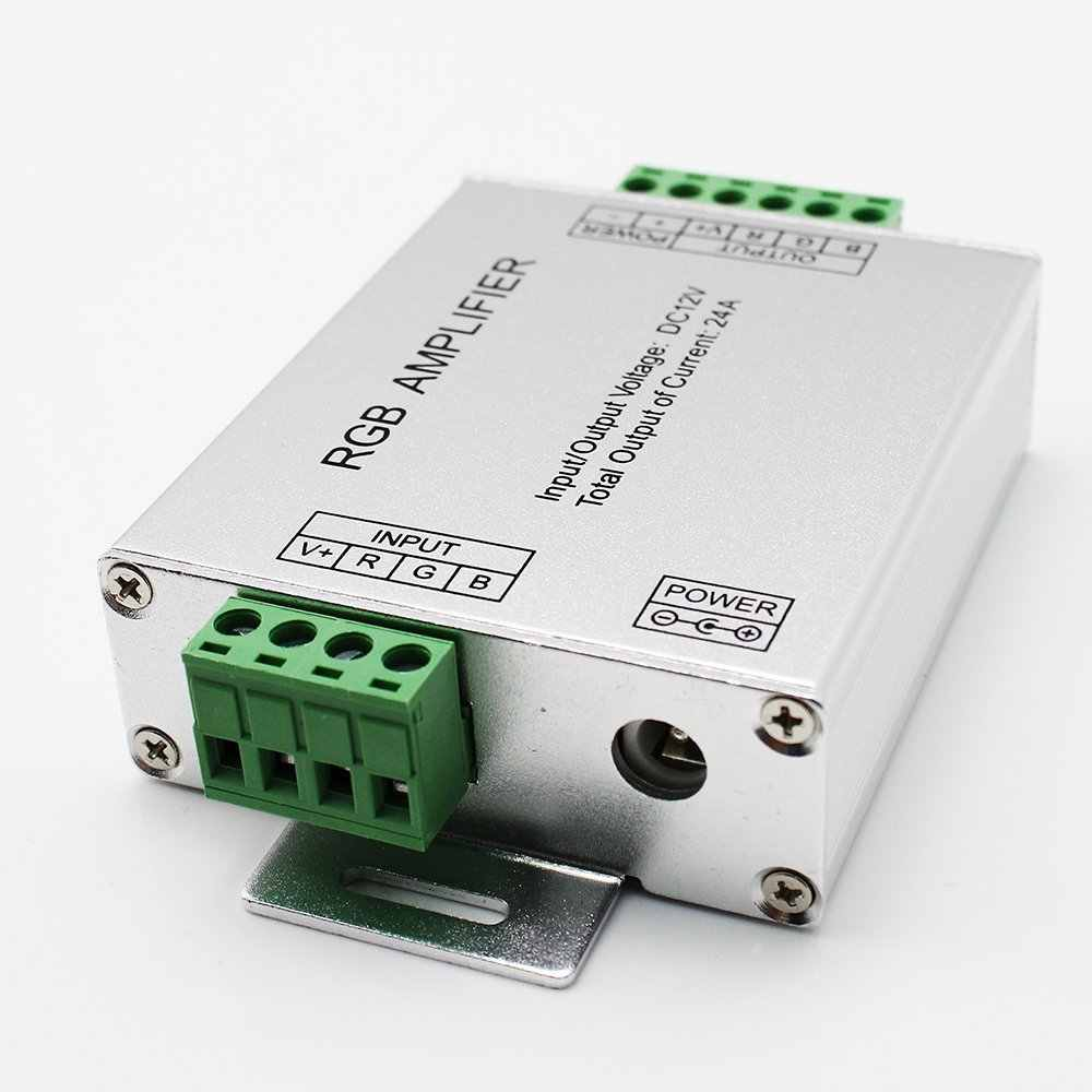 1 шт. DC 12 V-24 V алюминиевый корпус 12A 24A Усилитель RGB для SMD 3528 и 5050 Светодиодные полосы света