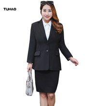 TUHAO business suits PLUS SIZE 10xl 8XL 6XL 5XL 4XL Women's Jacket  2018 spring office lady Jacket Black Coat clothing YN04