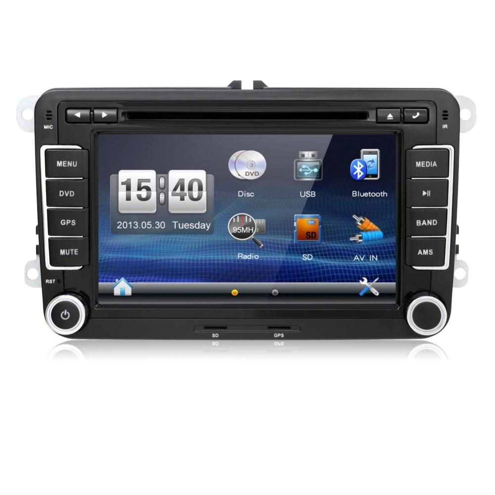 2 din voiture DVD Radio PC GPS USB HD pour VW Skoda POLO GOLF 5 6 PASSAT CC JETTA TIGUAN TOURAN Fabia Caddy elm327 caméra DVBT ISDB