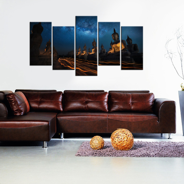 Giclee Canvas Wall Pictures Buddha Statue Zen Garden Home Decor For Living Room HD Print Painting Poster Modern Modular Murals