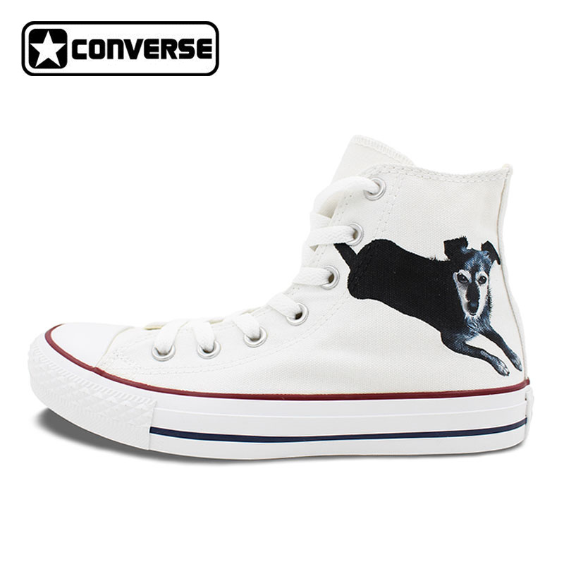 8429a16aac93 White Converse All Star Women Men Shoes Dog Pet Original Design Custom Hand  Painted Shoes Men Women High Top Sneakers Gifts-in Skateboarding from  Sports ...