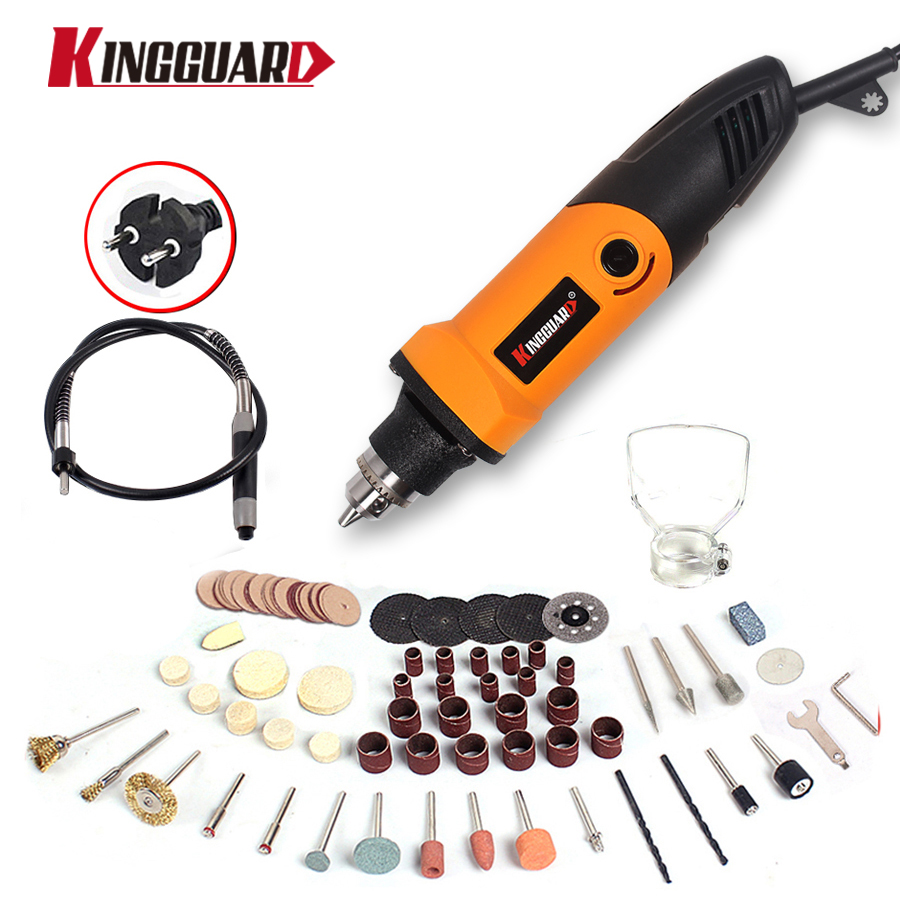 Kingguard 400W Mini Electric Drill with 6 Position Variable Speed Dremel style Rotary Tools Mini Grinder Grinding Machine hilda 400w mini electric drill with 6 position variable speed dremel rotary tools with flexible shaft and 94pcs accessories