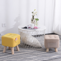 Fabric stool Household fashion creative sofa Living room Adult Kid stools wooden bench sex furniture minimalist modern