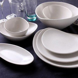 Germany's top ceramic tableware ceramic ASA seven sets of white ceramic package
