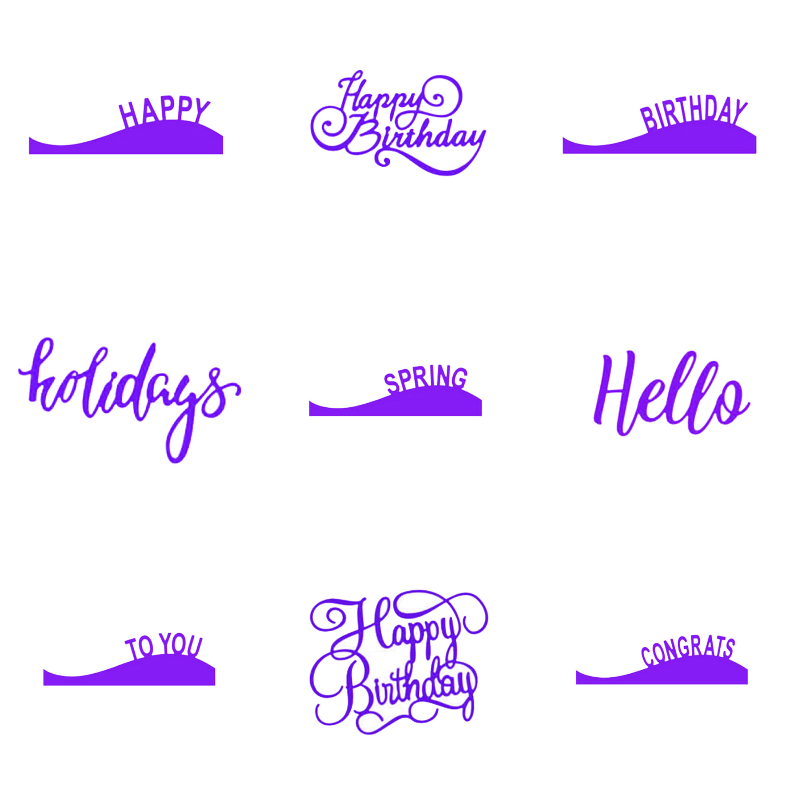 estel metal cutting dies 9 style happy birthday hello letter scrapbook paper craft card album embossing stencils template punch in cutting dies from home