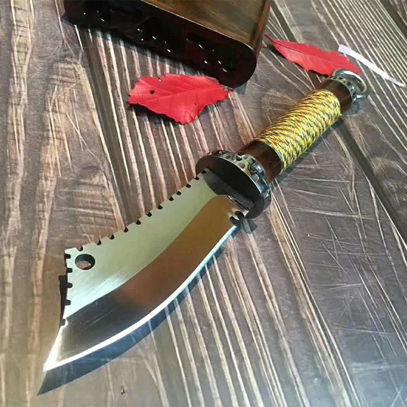 High Hardness TACTICAL GEAR OUTDOORS ARMY HUNTING KNIFE MACHETE Rambo Knifes Fixed Blade Knives Combat Survival Camping EDC Tool 2