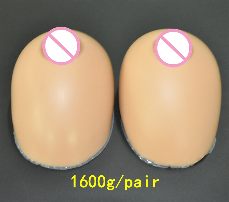 Crossdresser Silicone Breast Forms 1600g/pair Brown Fake Boobs Prosthesis Teardrop Artificial Breast artificial gem leaf teardrop earrings