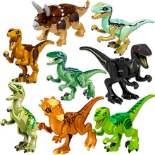 Sermoido Jurassic Sale Dinosaurs Park Pterosauria Triceratops Indomirus T-rex World Figures Bricks Toys Building Blocks