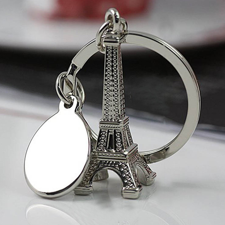 Fashion Paris Eiffel Tower Shape Keychain Novelty Gadget Trinket Souvenir Christmas Gift Keychain Drop Shipping