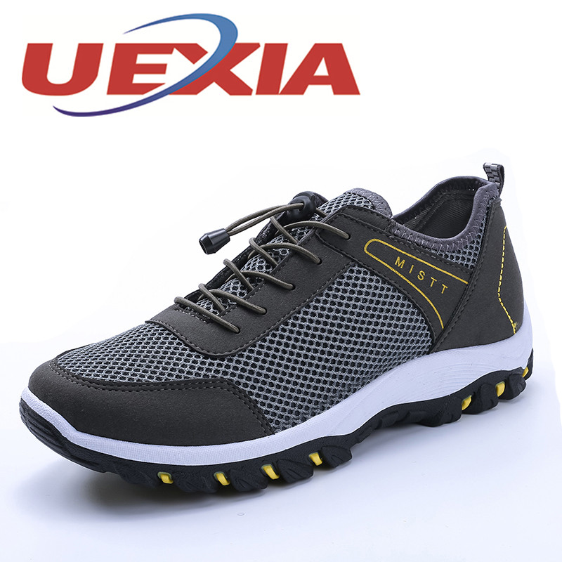 Fashion Men Shoes Outdoor Breathable Mesh Trekking Casual Flats Shoes For Mens Sport Comfortable Soft Zapatos