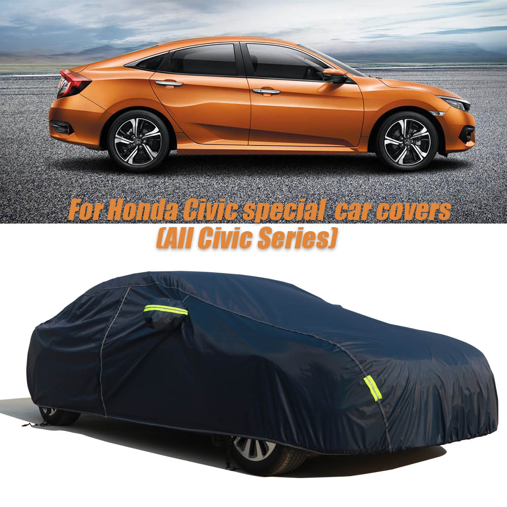 Car Covers For Honda Civic Waterproof Car Covers Snow Ice Dust Sun UV Dust Rain Shade Cover Auto Car Outdoor Protector CoverCar Covers For Honda Civic Waterproof Car Covers Snow Ice Dust Sun UV Dust Rain Shade Cover Auto Car Outdoor Protector Cover