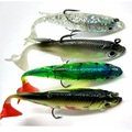 4pcs Fishing Lures Sea Fishing Tackle Soft Bait Lead Fishing 8cm/14g Artificial Bait Jig Wobblers Rubber Silicon Lure