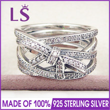 LS High Quality 100% Real 925 Sterling Silver Delicate Sentiments Ring For Women DIY Fashion Rings 100% Fine Jewelry H