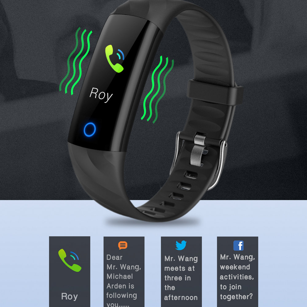 2019 Heart Rate Smart Bracelet IP68 Waterproof Blood pressure oxygen Monitor Color Screen Activity Fitness Tracker Smart Band in Smart Wristbands from Consumer Electronics