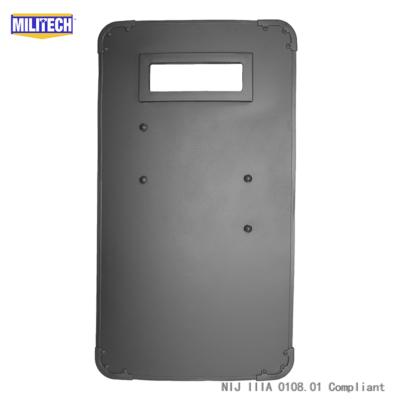 цена на MILITECH 19.7'' x 35.4'' Or 50cm x 90cm Ultra Light Weight UHMWPE NIJ IIIA 3A Bullet Proof Shield Bulletproof Ballistic Shield