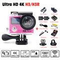4 K 100%, H3 H3R Action camera EK EN 4 K/25fps 720 P FHD câmera wi-fi 2.0 LCD pro Ação esporte Capacete Câmera ir à prova d' água câmera