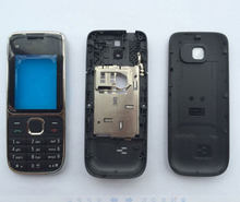 BINYEAE Full Housing Case Battery Cover Front+Middle Frame Keypad For Nokia C2 C2-01(China)