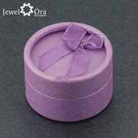 5cmx5cmx3.5cm Gift Box For Ring Purple Round Jewelry Gift Boxes Packaging (JewelOra AS100139)