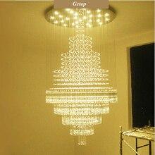 T Großen Kreisförmigen Pendelleuchte Für Hotel Mall Technik Home Wohnzimmer Kristall Led Lampen Luxus Für Villadom Dhl-freies