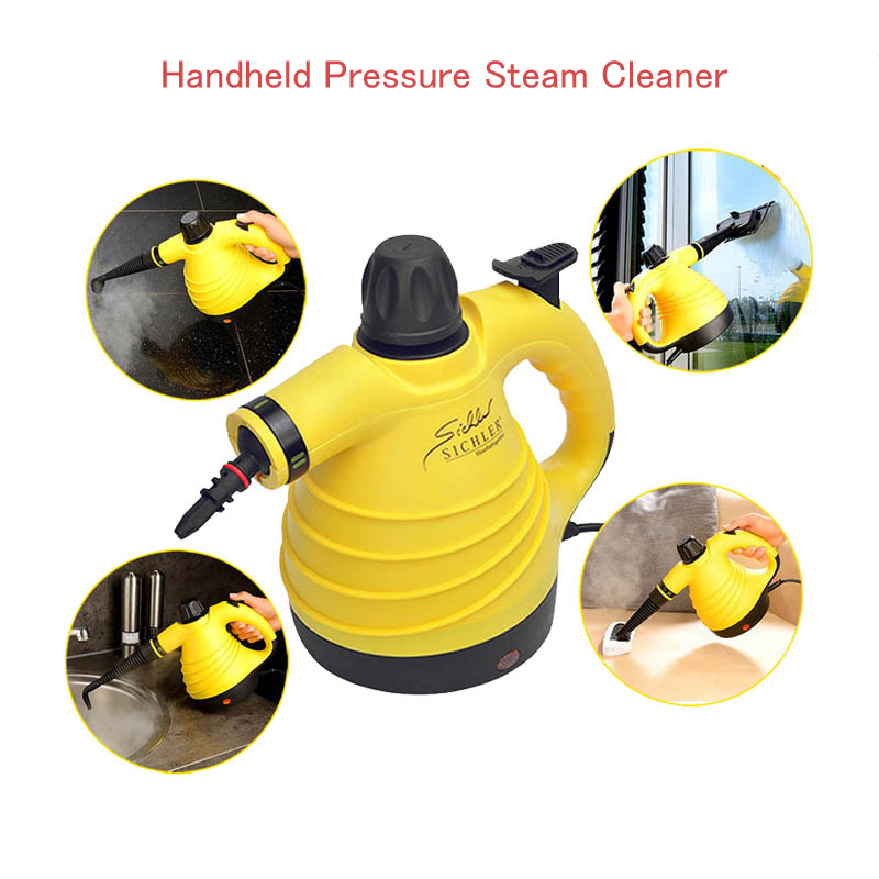 Handheld Steam Cleaner Pressure High Temperature Steam Cleaning Machine with 6 mouths Multifuntion cleaning machine GF0004 1pcs karcher steam cleaning machine sc3 dedicated waste water purification stick