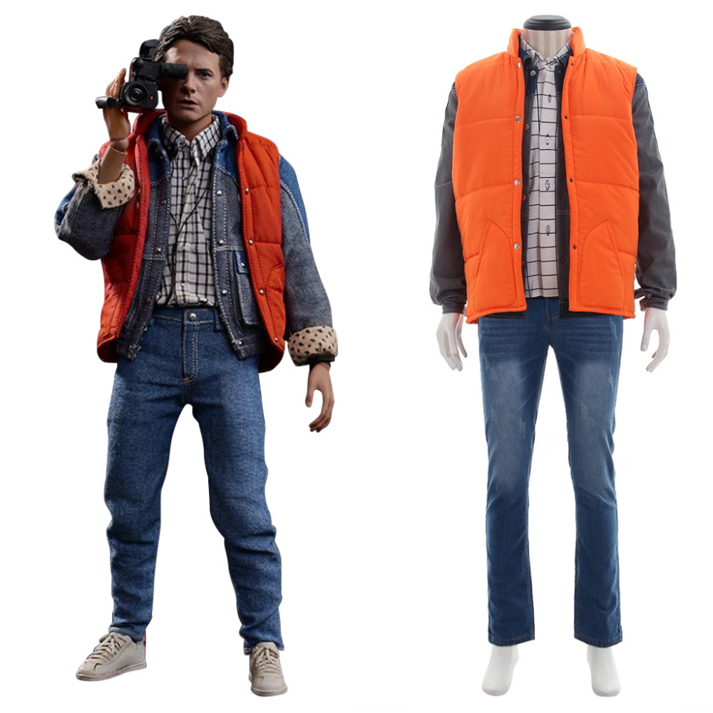Retour vers le futur Costume Marty McFly tenue adulte homme film Halloween carnaval Cosplay Costume