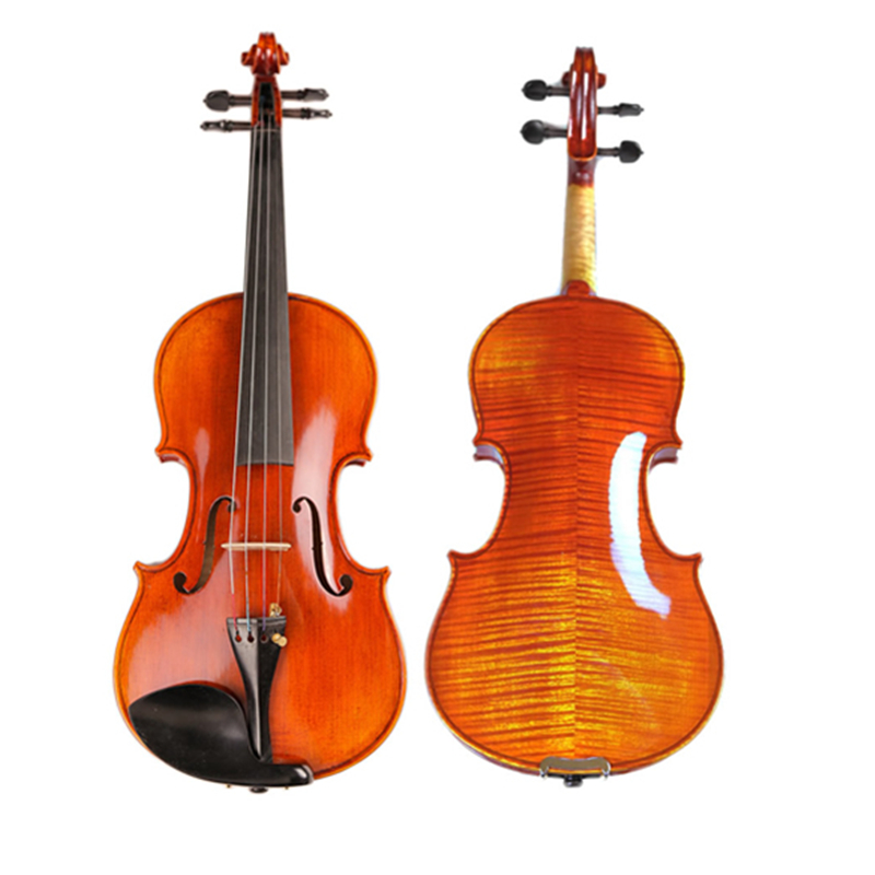High-end Professional Violin 20 Years Old Naturally Dried Stripes Maple Hand-craft Spirit Varnish Violino 4/4 3/4 TONGLING Brand image