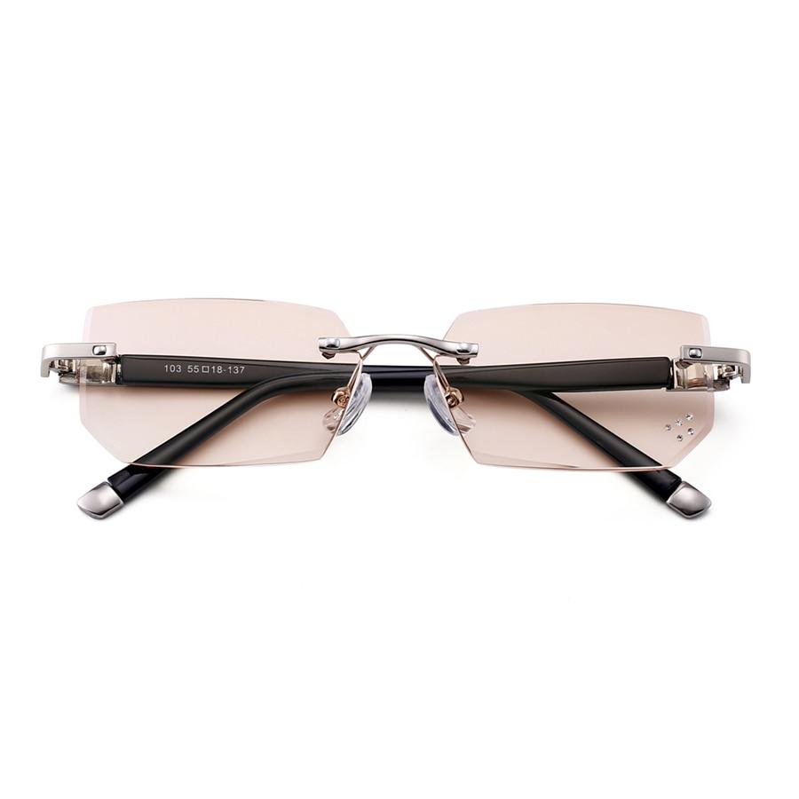 76a9f1793e8 Fashionable Ultralight Rimless Reading Glasses Yellow Lens Anti-Blu-Ray  Computer Glasses Presbyopia Glasses