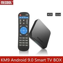 MECOOL Android 9,0 tv box IPTV box на базе Андроид DDR4 4G + 32G Встроенная память с USB 3,0 WI-FI Комплект Топ 4 K HDR tv box Smart tv box