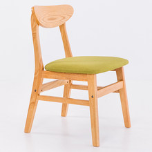 Nordic solid wood dining chair adult home fashion modern minimalist American backrest chair dining table restaurant stool(China)