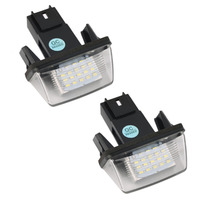 Super Bright 2PCS 12V 18 Led Licence Number Plate Light Bulbs 18 Led License Light For
