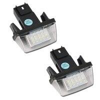 Super Bright 2PCS 12V 18 Led Licence Number Plate Light Bulbs 18 Led License Light For