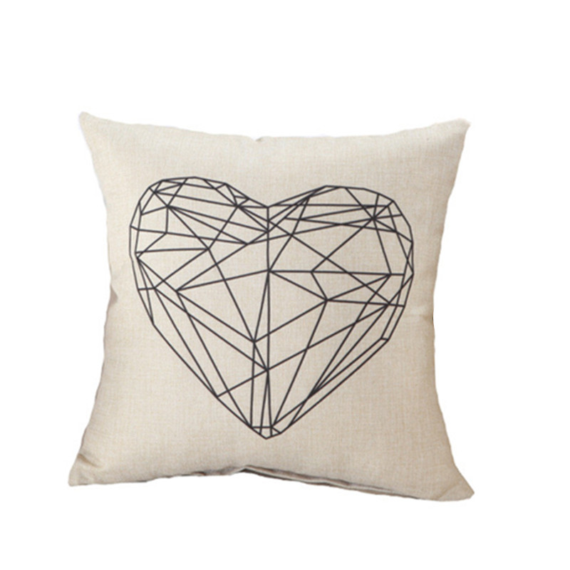 Black And White Love Text With A Heart Lumbar Pillow Zazzle