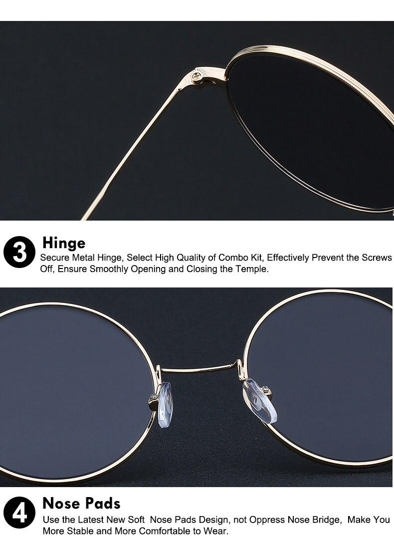 Round Circle Metal Sunglasses