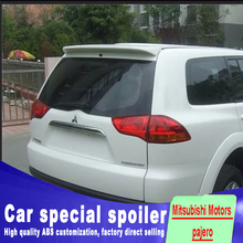 For Mitsubishi pajero spoiler 2009 to 2013 high quality For ABS Mitsubishi Motors pajero spoilers by primer black white paint high quality alternator for mitsubishi l200 pajero a003t07483 a3t07483 md162964