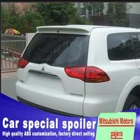 For Mitsubishi pajero spoiler 2009 to 2013 high quality For ABS Mitsubishi Motors pajero spoilers by primer black white paint