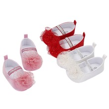 Baby Toddler Shoes Non-Slip Cute Flower Shoes Dress Shoes 0-