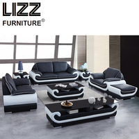 Corner Sofas Living Room Furniture Sets Miami Modern Leather Sectional Sofa Group Side Table Coffee Table