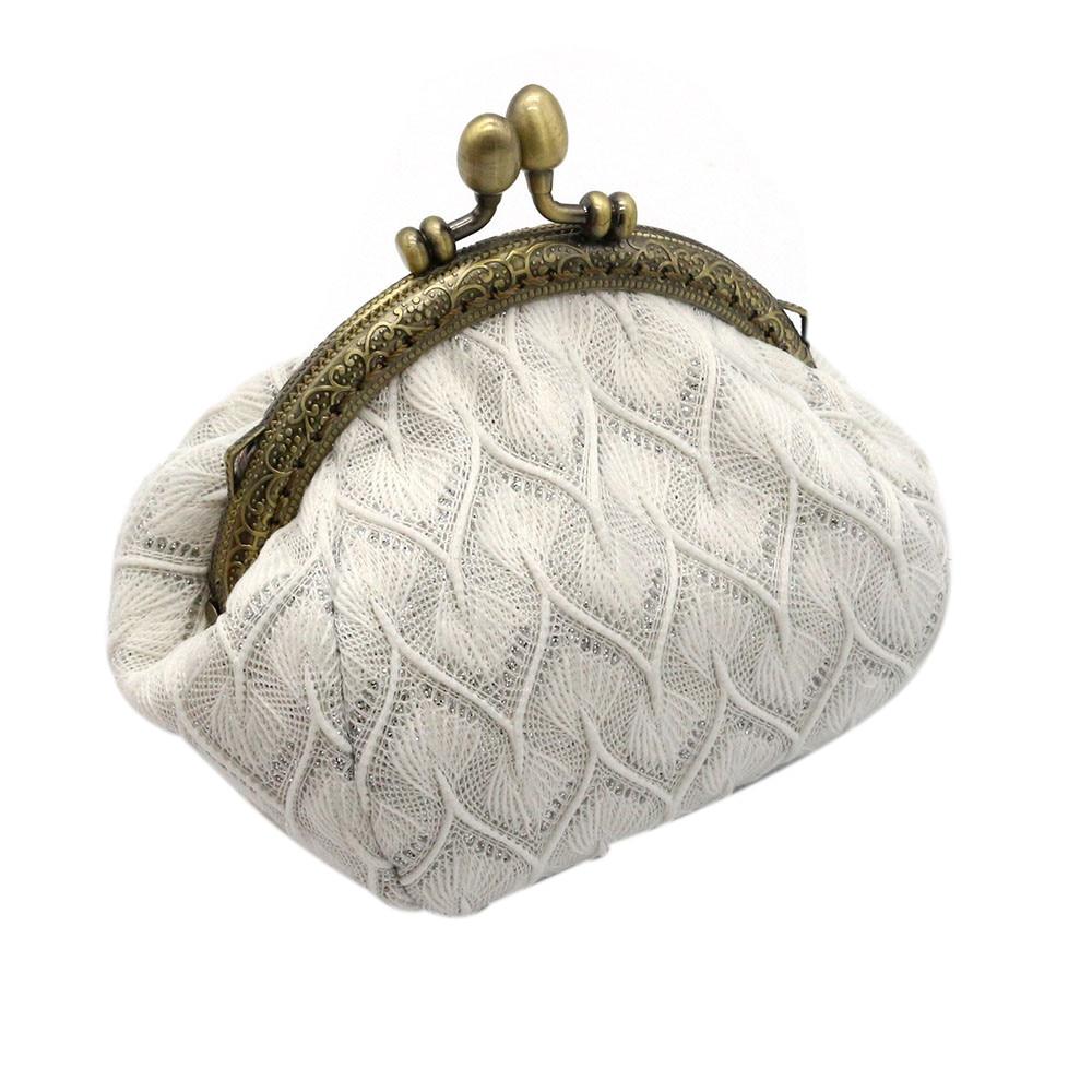 High Quality Women Lady Retro Vintage Flower Small Wallet Hasp Purse Clutch Bag