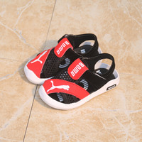Summer New Baby Shoes Hollow Out Bread Head Baby Sandals Prevent Slippery Baby Soft Bottom Leather